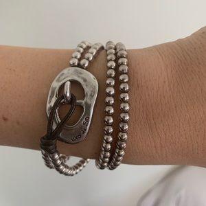 Uno de 50 Silver Boluda Double Bracelet